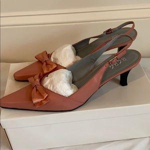 Brand new dusty rose BCBG slingback heels, size 9